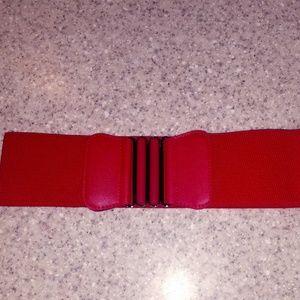 Red Clip belt brand new